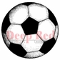 Deep Red Cling Stamp - Soccer Ball