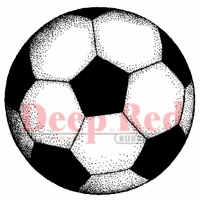 Deep Red Stamp - Soccer Ball
