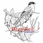 Deep Red Cling Stamp - Songbird