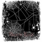 Deep Red Stamp - Spider Web Background