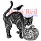 Deep Red Cling Stamp - Spooky Cat