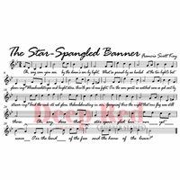 Deep Red Stamp - Star Spangled Banner
