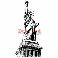 Deep Red Stamp - Statue Of Liberty