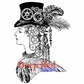 Deep Red Cling Stamp - Steampunk Lady