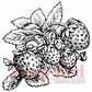 Deep Red Cling Stamp - Strawberries