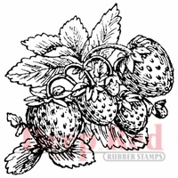 Deep Red Stamp - Strawberries