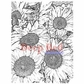 Deep Red Cling Stamp - Sunflowers Background