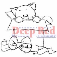 Deep Red Cling Stamp - Surprise Gift