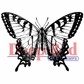 Deep Red Cling Stamp - Swallowtail Butterfly