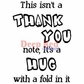 Deep Red Cling Stamp - Thank You Hug