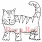 "Deep Red Cling Stamp - Tiger Cat 2""x2"""
