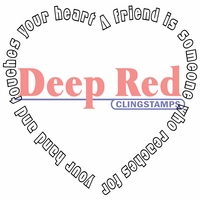 Deep Red Stamp - Touched By A Friend