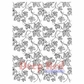 Deep Red Cling Stamp - Vines Background