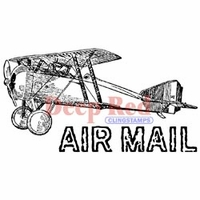 Deep Red Stamp - Vintage Air Mail