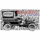 Deep Red Cling Stamp - Vintage Delivery Truck