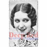 Deep Red Cling Stamp - Vintage Glamour