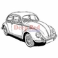 Deep Red Cling Stamp - VW Bug