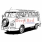 Deep Red Cling Stamp - VW Bus
