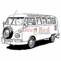 Deep Red Stamp - VW Bus