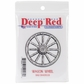 "Deep Red Cling Stamp - Wagon Wheel 2""x2"""