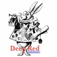 Deep Red Stamp - White Rabbit