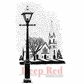 Deep Red Cling Stamp - Winter Church