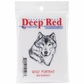 "Deep Red Cling Stamp - Wolf Portrait 1.75""x2"""
