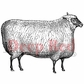 Deep Red Cling Stamp - Wooly Sheep