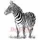 Deep Red Cling Stamp - Zebra