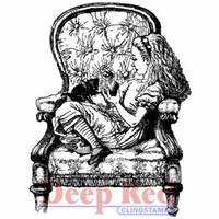 Deep Red Stamps - Alice In Armchair