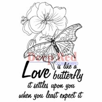Deep Red Stamps - Love Is Like A Butterfly