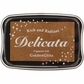 Delicata Non-Tarnishing Gold Full Size Ink Pad - Golden Glitz