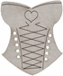 Die-Cut Grey Chipboard Embellishments - Corset