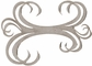 Die-Cut Grey Chipboard Embellishments - Double Swirl