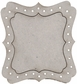 Die-Cut Grey Chipboard Embellishments - Dressing Room Mirror Frame