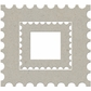 Die-Cut Grey Chipboard Embellishments - Holiday Stamp Frame