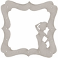Die-Cut Grey Chipboard Embellishments - Show Girl Frame