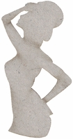 Die-Cut Grey Chipboard Embellishments - Show Girl With Top Hat