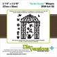 "Die-Versions Whispers 4""x4"" Die - Garden Gazebo"