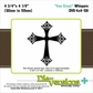 "Die-Versions Whispers 4""x4"" Die - Iron Cross"
