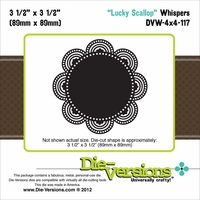 "Die-Versions Whispers 4""x4"" Die - Lucky Scallop"