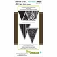 "Die-Versions Whispers 4""x8"" Die - Party Pennants 1"