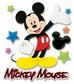 Disney 3-D Stickers - Mickey Walking