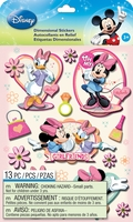 Disney Dimensional Stickers - Mickey Family Girls