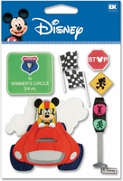Disney Dimensional Vacation Stickers - Race Car Mickey