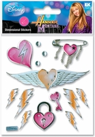 Disney Hannah Montana 3-D Stickers Heart-Wings