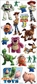 Disney Large Flat Stickers - Toy Story