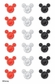 Disney Mickey Gem Stickers - Multi Color Heads