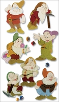 Disney Movie 3-D Stickers - Snow White/The Seven Dwarves