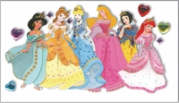 Disney Princess Jewels Le Grande Stickers - Multiple Princesses